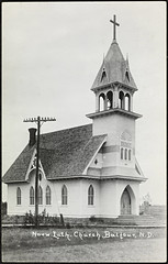 Norwegian Lutheran Church, Balfour, North Dakota (National Library of Norway) Tags: nasjonalbiblioteket nationallibraryofnorway postkort postcards kirker churches balfour norwegianlutheranchurch northdakota