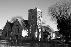 St Mary's Church, Willesden (IanAWood) Tags: lbofbrent london londoncemeteries nikkorafs58mmf14g nikondf walkingwithmynikon willesden willesdennewcemetery stmaryschurch cofe middlesexchurches londonssuburbanchurches churchesinblackandwhite englishheritage gradeiilistedbuilding