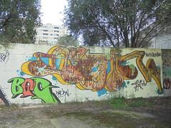 423 (en-ri) Tags: bgg return marrone verde arrow trash rtf rtfs crew dlv bgc giallo azzurro genova zena wall muro graffiti writing