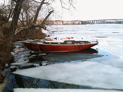 I would have thought of this a bit earlier (My Best Images) Tags: boat sailingboat misstake ice winter essingen storaessingen