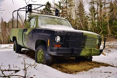 "1976 Silverado ""Five-Quad"" (evanlochem) Tags: army vehicles canadian forces military history museum oromocto base gagetown new brunswick canada fivequad chevrolet silverado pickup truck general motors"