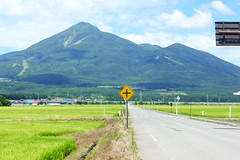 Clear view of Bandai-san (Stop carbon pollution) Tags: japan 日本 honshuu 本州 touhoku 東北 fukushimaken 福島県 cycletouring 自転車ツーリング