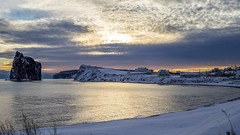 Morning at the beach (Danny VB) Tags: beach early morning rocherpercé gaspesie quebec canada percé canon 6d snow winter