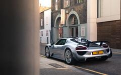 Nine One Eight. (Alex Penfold) Tags: porsche 918 supercars supercar super car cars autos alex penfold 2017 silver qatari 418