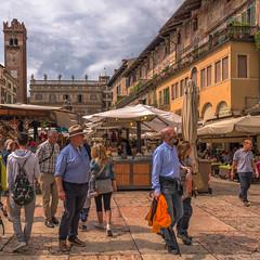 Piazza delle Erbe (Explored) (Sorin Popovich) Tags: piazzadelleerbe verona veneto italy citysquare architecture europe