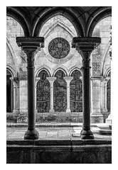 CATEDRAL DE OPORTO - claustro  ( Portugal ) (RAMUBA) Tags: catedral oporto portugal claustro azulejos gotico bw gothic cathedral cloister