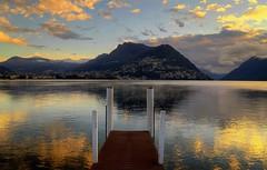 A quiet sunrise... (Alex Switzerland) Tags: lugano luganese ceresio lake ticino switzerland landscape spring outdoor countryside europe europa canon eos 6d sunrise mountain water