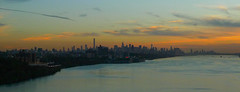 Full Manhattan Island Sunset Seen From GW Bridge; Fort Lee, New Jersey (hogophotoNY) Tags: hogophoto manhattan nyc gw bridge usa us skyline nystate newyorkstate newyorkcity panasonic dmclx3 digital driving traffic urban cityskyline empirestatebuilding skyscrapers sky sunset settingsun november 2016 newyorknewyork bigapple thebigapple