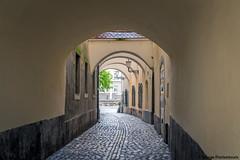 Alley in  Ljubljana, Slovenia (George Pachantouris) Tags: slovenia europe ljubljana european medieval architecture ljubljanica