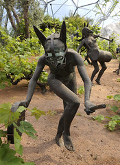 Wild Figures. (simonannable) Tags: kernow erotic naked statues eden project cornwall display wild art figure running uk nude breasts bare woman girl nipples hard erotiscim attack attacking