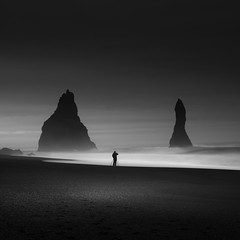 4am Vik (vulture labs) Tags: long exposure iceland workshop bw landscape seascape