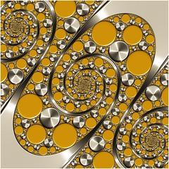Multiplicity (Ross Hilbert) Tags: fractalsciencekit fractalgenerator fractalsoftware fractalapplication fractalart algorithmicart generativeart computerart mathart digitalart abstractart fractal chaos art kleinian apolloniangasket circleinversion tiling orbittrap
