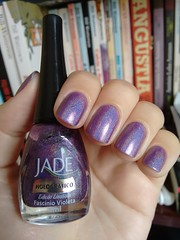 Fascínio Violeta - Jade (Mari Hotz) Tags: esmalte unha jade holográfico roxo violeta