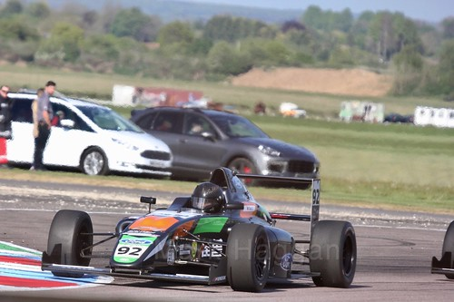 Zhuo Cao in British Formula Four at Thruxton, May 2017