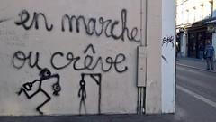 """""""En marche ou crève"""" Rue de la Roquette 2017 (Denis Bocquet) Tags: macron en marche campagne législatives syndicats réforme marché travail protestations paris cgt manifestation antimacron loitravail loimacron"""