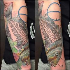 18216894_1201774406616249_6669677099275042180_o (mysticeyetattoo) Tags: fishbone color tattoo realism lleida spain yarda