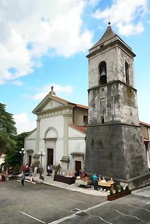 Santa Maria Assunta church - Oil painting picture effects series