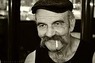Portrait of a Greek man