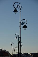 streetlamps (Hayashina) Tags: poland warsaw lamps evening htt