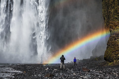 Prendre la pose (akcfoto) Tags: abigfave cascade islande iceland waterfall raimbow arcenciel photo