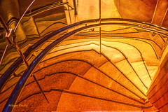 le toilette? (albyn.davis) Tags: bright vivid vibrant glow light stairs mirror reflection curves geometry