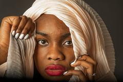 Alaine (2) (Hans Dethmers) Tags: portrait portret exotic exotisch headscarf hoofddoek sjawl sjaal alainewinter hansdethmers