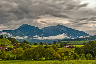 The Niederhorn taken from the vilage of Wimmis (Canton of Bern) Switzerland. . No, 8763.