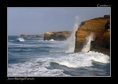 Cantábrico agitado en la Playa de las Catedrales. (jmadrigal09) Tags: jmadrigal mar sea cantábrico playadelascatedrales paisaje landscape marina