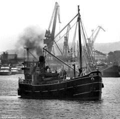 Scotland Greenock Clyde Puffer VIC 32 steam ship 12 May 2017 by Anne MacKay (Anne MacKay images of interest & wonder) Tags: scotland greenock clyde puffer vic 32 coal steam ship xs1 monochrome blackandwhite 12 may 2017 picture by anne mackay