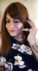 Floreale (Steph Angel) Tags: stephangel steph girl ginger gender feminine female femme hair longhair mascara makeup lipstick lips eyes selfportrait portrait transvestite tranny trans tgirl crossdress cd beauty