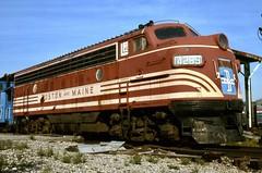 BMRR F7A 4265 ESyracuseNY 9-14-1993rdk (ironmike9) Tags: track rail rr railway bmrr bostonmainerr cnynrhs nrhs esyracuseny f7 locomotive amtrak