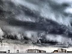 storm over Price (simply innocuous) Tags: einstein price aecom pricecenter storm stormy bronx nyc clahe dirtywindow