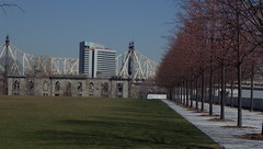 Geometric Trees & other Structures 4 Freedoms FDR Park, NYC (catchesthelight) Tags: views manhattan rooseveltisland nyc eastriver latewinter earlyspring travel skyscrapers fdr franklindrooseveltfourfreedomspark concrete sculpture park queensborobridge