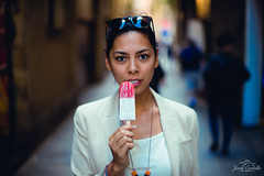 The ice cream. (Jordi Corbilla Photography) Tags: portrait portraitwoman portraitprofessional nikon d750 50mm f14 jordicorbilla jordicorbillaphotography barcelona spain