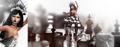 The Chess Goddess (meriluu17) Tags: boudoir chess ersch arte tfgc thefantasygachacarnival mello goddess fantasy blackwhite bw black white people magical surreal