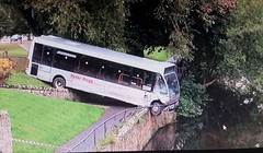 Bus Hanging on the Edge. (ManOfYorkshire) Tags: optare solo bus crash peterhogg dangerous driving jedwater jedburgh scotland borders embankment careering hanging edge