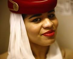The SAHRAWI (N A Y E E M) Tags: cabincrew stewardess flightattendant portrait sahrawi moroccan dubai airport emiratesairlines availablelight indoors cropped 8x10