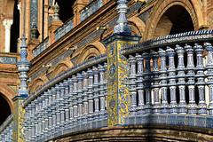 Plaza de España (Biolchini) Tags: spain espanha seville sevilla sevilha plazadeespaña bridge ceramic