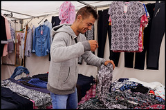Selling clothes (www.nielsdejgaard.dk) Tags: mallorca mennesker folk people sonservera mand man tøjsælger tøj clothes