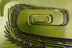 Green room (Elbmaedchen) Tags: staircase stairs treppenhaus treppenauge spirale ullsteinhaus tempelhof berlin