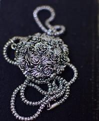 The Locket of Roses (Vidya...) Tags: locket black silver metal roses chain elegant jewellery daughter trinket party necklace leaves