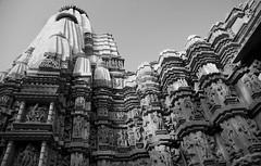 Khajuraho Temple 8 blk & white (Debbie Sabadash) Tags: khajuraho madhya pradesh india