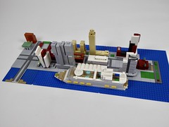 The Wilhelminapier at Rotterdam with cruise ship Harmony of the Seas (jwflier) Tags: lego wilhelminapier rotterdam architecture building