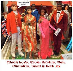 HAPPY BIRTHDAY INGRID! (ModBarbieLover) Tags: barbie ken 1968 1969 1971 christie brad curtis mod fashion doll tnt talking party eveningwear tuxedo