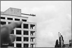 Look my finger_Leica M3 (ksadjina) Tags: 12min 150 altepostzentrale austria kodak400tmaxpushedtoasa800 kunstinstallation leicam3 leitzsummicronm50mmf12 nikonsupercoolscan9000ed rodinal silverfast vienna analog blackwhite film scan grain art