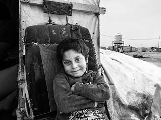 Zaatari refugee camp, Jordan-Syria border.