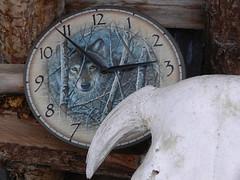 Clock with skull (lmundy2002) Tags: dogs dogsled dogsledding huskies sleds whitefish olney whitefishmt olneymt montana mt winter wintersports