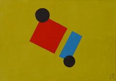 notion ambiguë  / ambiguous notion -  by Jan Theuninck, 2017 (Gray Moon Gallery) Tags: ambiguousnotion notionambiguë jantheuninck dubbelzinnigbegrip yellow blue black red zweideutigeskonzept kafka