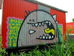Graffiti (oerendhard1) Tags: graffiti illegal vandalism streetart urban art rotterdam ominous bouwkeet construction trailer