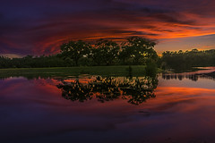 When You Just Want To Get Away (J Swanstrom (Never enough time...)) Tags: sunset sky water lake landscape reflection evening colors rainbow trees clouds nikon d750 jswanstromphotography serene relax hdr